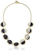 "Noir Orbit"" Semiprecious Galileo Necklace"