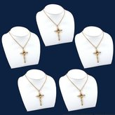 FindingKing 5 Pc Leather Necklace Bust Chain Jewelry Display