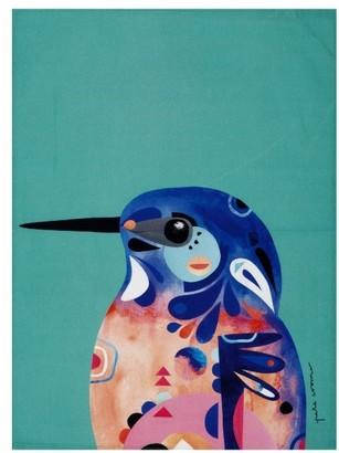 Maxwell & Williams Pete Cromer Azure Kingfisher Tea Towel 50 x 70cm