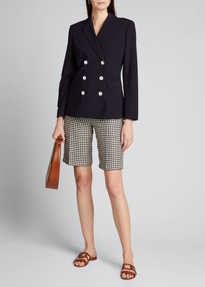 Giuliva Heritage Collection Houndstooth Linen Bermuda Shorts