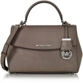 Michael Kors Ava Small Cinder Saffiano Leather Satchel Bag