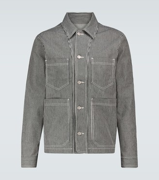 AMI Paris Striped Worker jacket