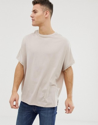 BEIGE Asos Design ASOS DESIGN extreme oversized t-shirt with crew neck in