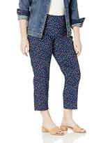 Slim Sation SLIM-SATION Women's Plus Size Pull on Skinny Print Crop with Faux L Pockets
