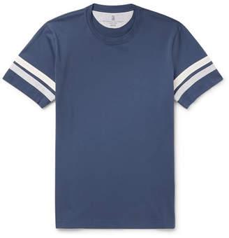 Brunello Cucinelli Striped Cotton-Jersey T-Shirt