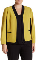 Kasper Stretch Crepe Two-Tone Jacket (Plus Size)