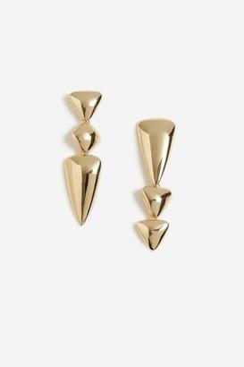 Topshop Mixed Shape Drop Earrings