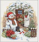 Dimensions Counted Cross Stitch: Garden Shed Snowman