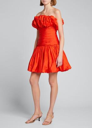 Carolina Herrera Strapless Taffeta Mini Cocktail Dress