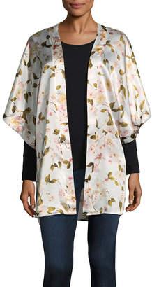 MIXIT Mixit Floral Womens Elbow Sleeve Kimono