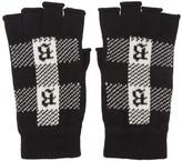 Brioni Black Fingerless Gloves