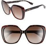Fendi Women's 56Mm Retro Sunglasses - Havana/ Grey/ Orange