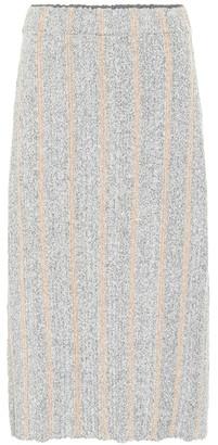 Jil Sander Striped wool-blend knit midi skirt