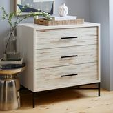 west elm Wood Tiled 3-Drawer Dresser