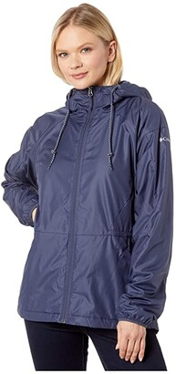 Columbia Side Hilltm Lined Windbreaker (Nocturnal) Women's Coat