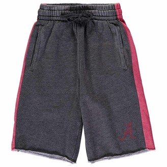 Colosseum Youth Charcoal/Crimson Alabama Crimson Tide The Majors Fleece Shorts