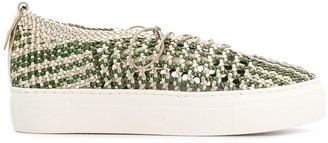 AGL Woven Contrast Sneakers