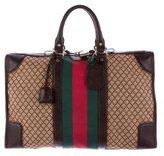 Gucci Web Diamante Weekender Bag