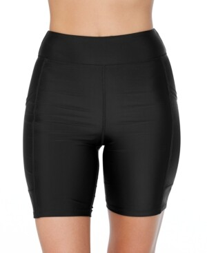 Island Escape Swimwear Mid-Rise Biker Swim Shorts, Created for Macys Women's Swimsuit