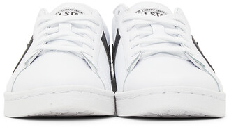 Converse White & Black Pro Leather OX Low Sneakers