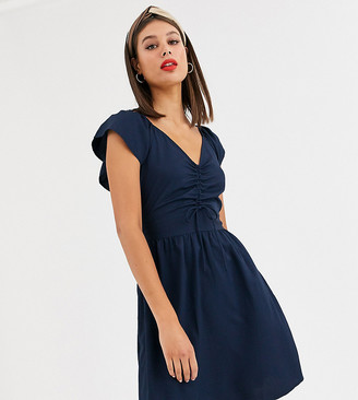 Vero Moda Tall gathered front dress