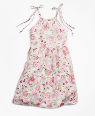 Brooks Brothers Girls Floral Print Cotton Dress
