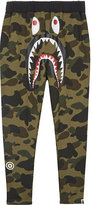 A Bathing Ape Camouflage shark cotton tracksuit bottoms 4-8 years