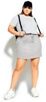 City Chic Track N Field Skirt - grey