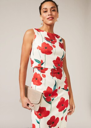 Phase Eight Lou-Poppy Floral Scuba Dress