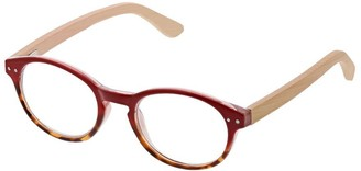 Peepers Women's Galleria - Red/wood 2433275 Round Reading Glasses