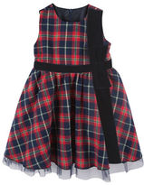 Andy & Evan Girls 2-6x Holiday Plaid Dress