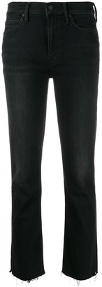 Mother High-Rise Raw Cropped Jeans