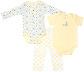 Cutie Pie Baby Peach & Blue Bodysuit Set - Infant