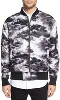 Zanerobe 'Clouds' Print Nylon Bomber Jacket