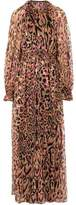 Temperley London Ruffled Leopard-Print Fil Coupé Silk-Blend Georgette Gown