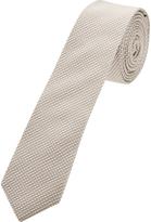 Oxford Silk Tie Pattern Grey Skny