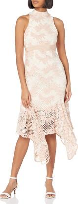 Keepsake Women's No Air Sleeveless Lace Midi Dress