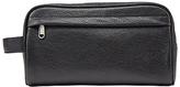John Lewis Katta Aniline Leather Wash Bag, Black