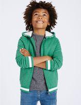 Marks and Spencer Cotton Rich Zip Through Sweatshirt (3-14 Years)