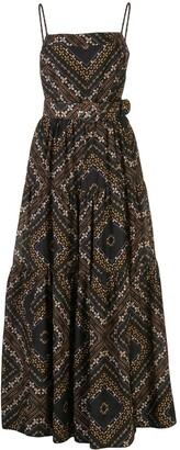 Nicholas Kerala scarf-print tiered dress