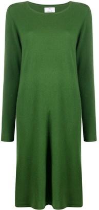 Allude Long-Sleeve Knit Midi Dress