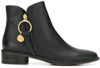 See by Chloe Louise flat ankle boots