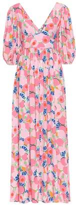 STAUD Exclusive to Mytheresa Affogato printed crepe maxi dress