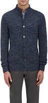Isaia Men's Stockinette-Stitched Cotton-Linen Cardigan