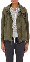 NSF Women's Camillo Cotton Hooded Jacket-DARK GREEN