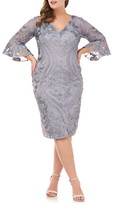 JS Collections Bell Sleeve Soutache Cocktail Dress