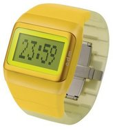 """o.d.m. Unisex SDD99B-4 """"Link Series"""" Programmable Watch with Yellow Rubber Band"""