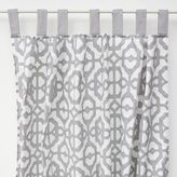 Caden Lane Mod Lattice Curtain Panel in Grey/White (Set of 2)