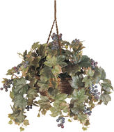 Asstd National Brand Nearly Natural Grape Leaf Hanging Basket Silk Plant