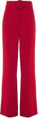 Cinq à Sept Belted Crepe Wide-leg Pants
